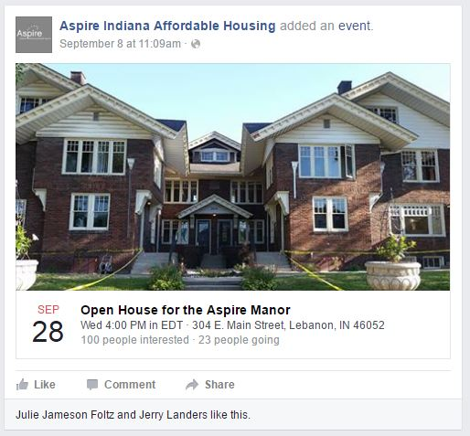 Aspire Affordable Housing Facebook Page