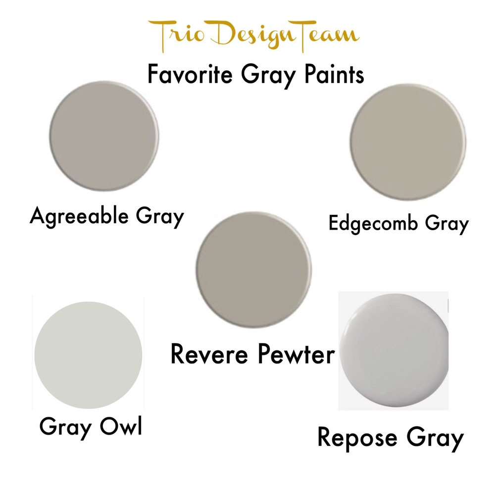 Our Favorite Gray Paints Trio Design Team
