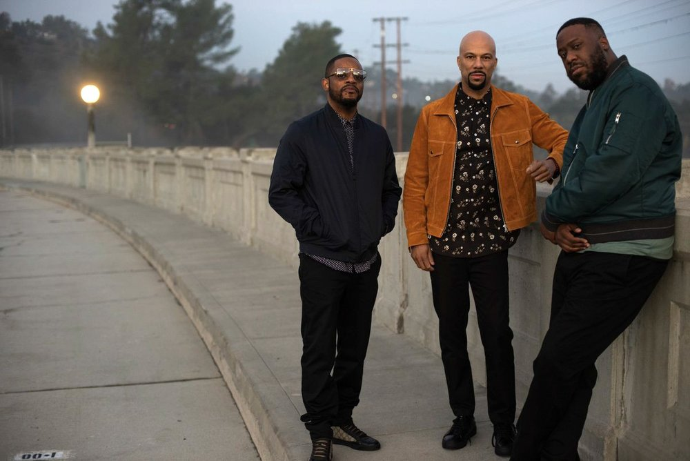 Pictured (L-R): Karriem Riggins, Common & Robert Glasper