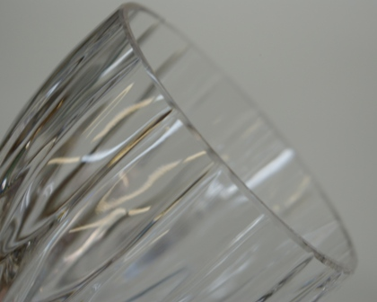 Crystal stemware after repair.