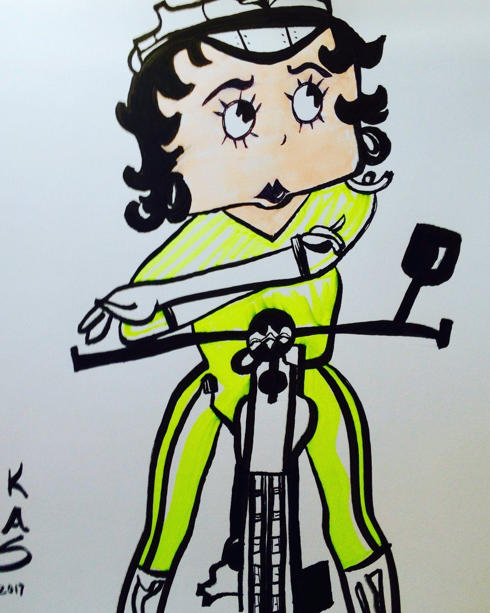 Betty Boop Marker Illustration