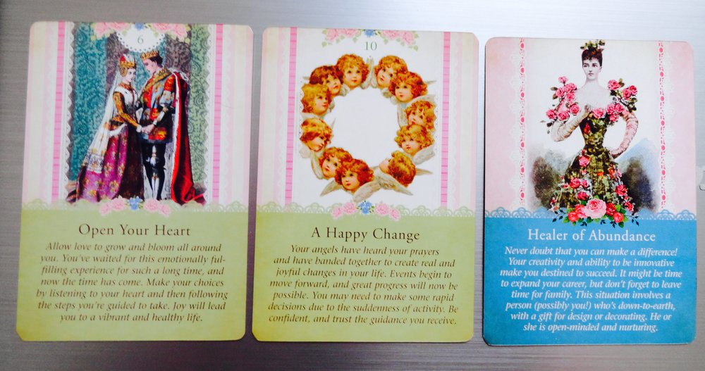 The first card represents the past related to the situation, the second represents the present and the third is the outcome