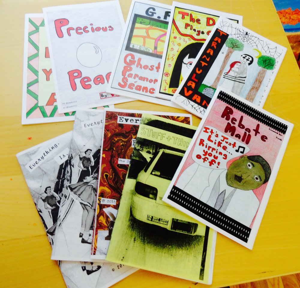 Zines I'm reviewing for Riot Grrrl Press