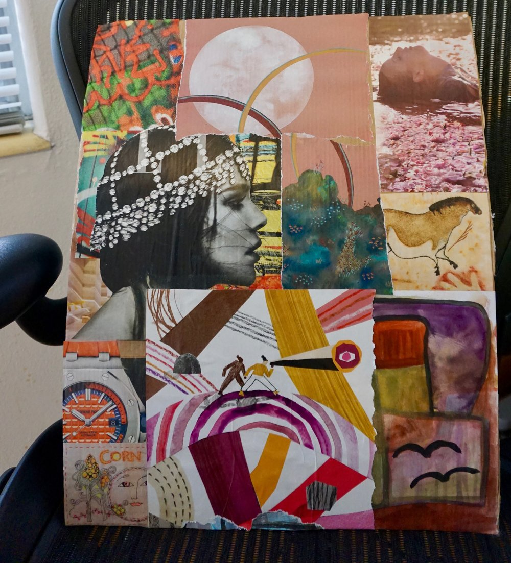 Soul Art Collage…to be continued