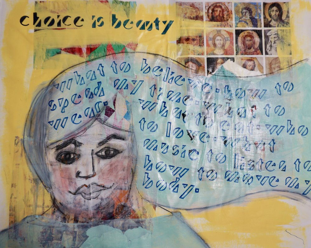 One of my paintings from Effy's class, Ordinary Beauty