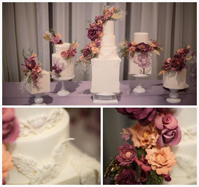 Really love this handcrafted goodness from Linda and Eric's Wedding... from the flowers to the flourishes... stunning...and her bridesmaid created it!! . . .  #weddingcake #details #weddingdetails #flowers #handcrafted #cake #floral #flourishes #weddingday #bridesmaids #brides #weddingflowers