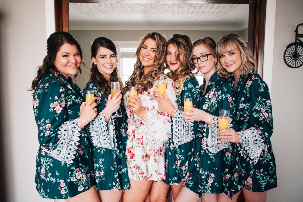 Paris and her bridesmaids
