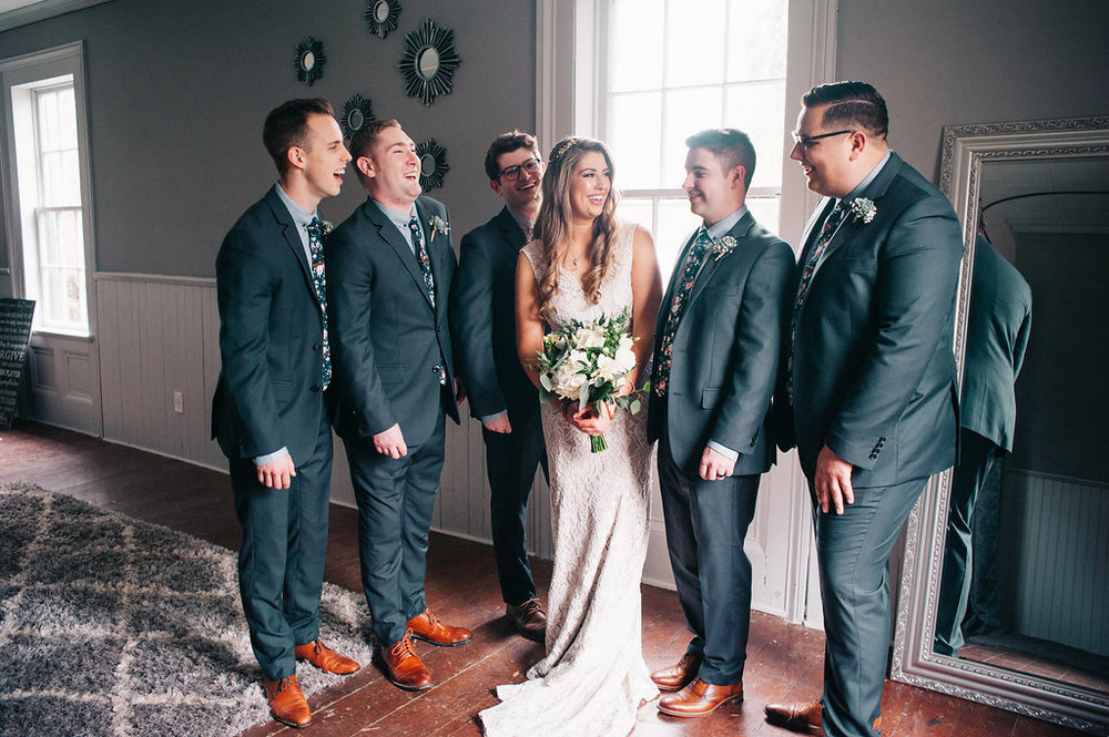 The bride and the boys