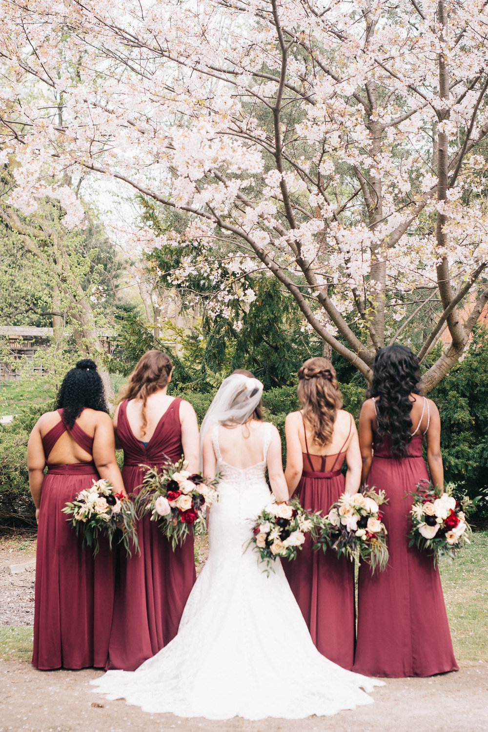 Bridesmaids dresses by David's Bridal