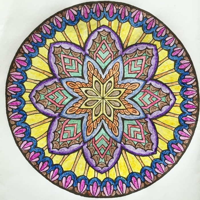 "Mandala lesson of the week: embrace discomfort.  . Being comfortable is a luxury I think we have all come to accept as the norm in our modern day culture. From lazy boys and ergonomically designed office chairs to comfort foods, here in the U.S. being comfy is our specialty.  . But Life has many moments that make us feel uncomfortable. Discomfort goes hand in hand with growth. Even massages have really painful and uncomfortable moments when releasing tension. . So it's no surprise when the discomfort of sadness, grief, anxiety, and fear come our way, we run for a glass of wine, or to our keyboard to ""be productive"" and clear out our inbox? Those feelings suck and make us wanna run. I know. I've been there. 😖 . But when we run away, instead of facing them head on, these feelings become stronger. Growing every moment they are left in the shadows, away from our conscious mind, they pop up in our dreams, or when we're trying to relax.  . To heal it, you must feel it. Embracing discomfort doesn't mean you need to dwell in it. Sit with that shitty feeling, and get curious about it. This may first turn into wanting to yell and demonized the discomfort, but resist the urge to judge, criticize, or beat yourself. I know. This part is probably the hardest. And takes practice, but YOU CAN do it! Just be still, and listen. Be willing to learn and let go, and the discomfort will pass much sooner than if you ignore it.  . What discomfort do you need to embrace today? Any shitty feelings you need help letting go of? Take a deep breath, and then take action. Breathing through it is the only way you'll come out on the other end - and you'll be stronger, wiser, and happier when you do."