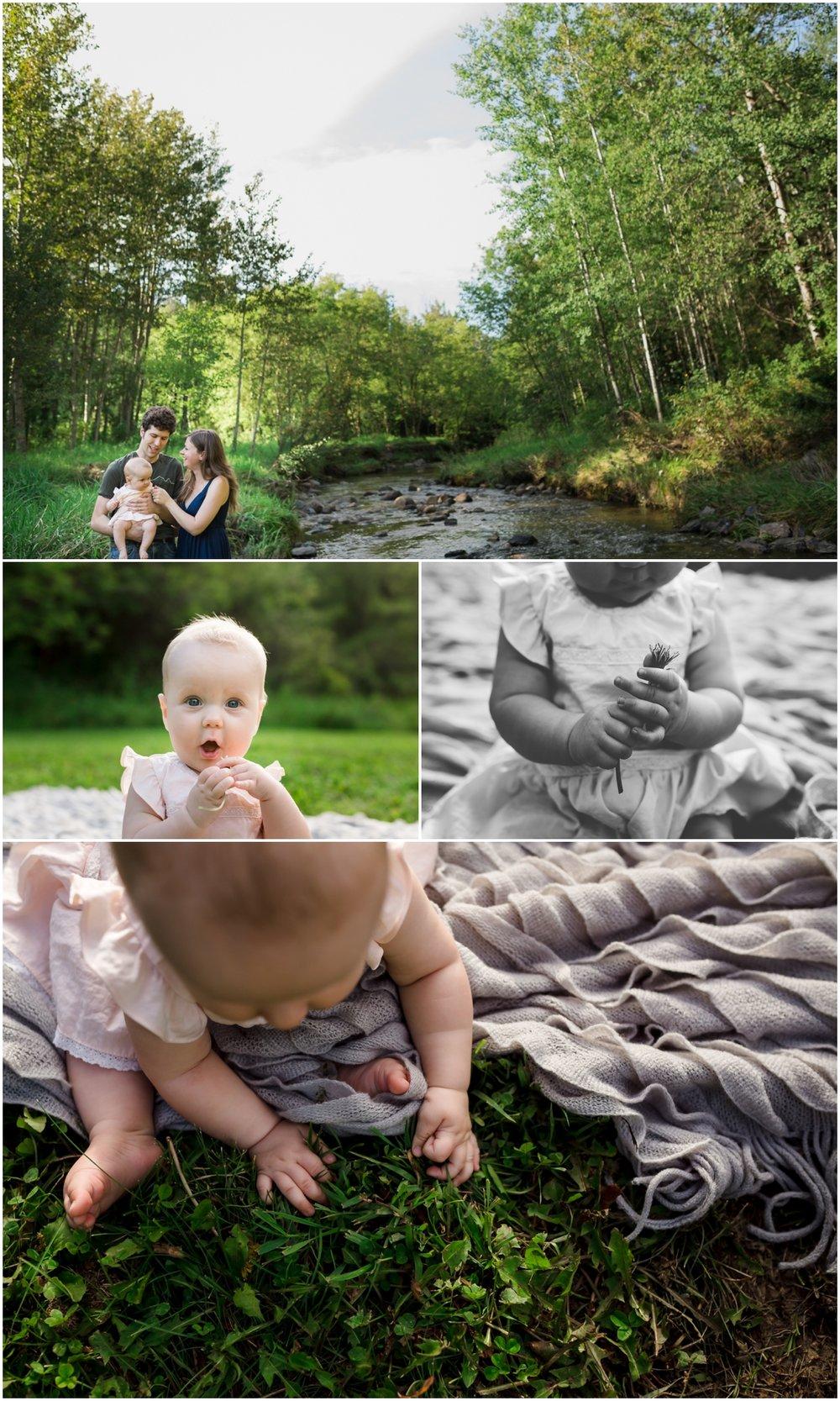 Edmonton family and baby photographer mill creek ravine