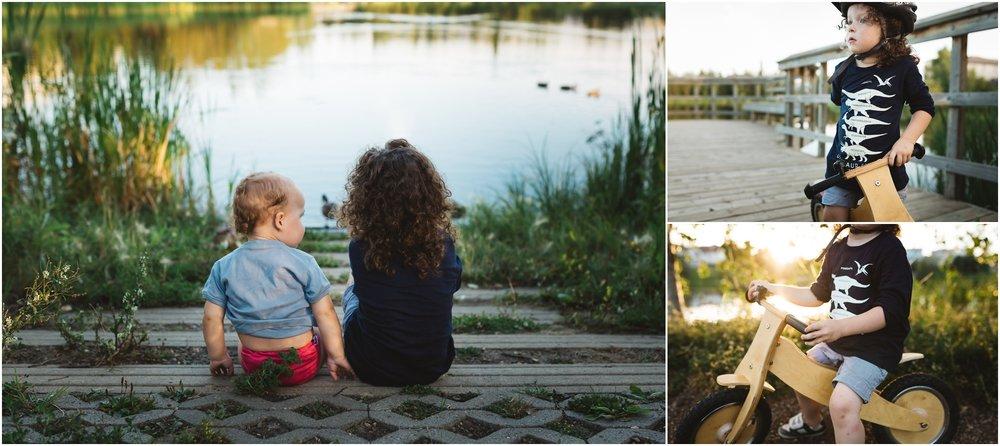 Edmonton Lifestyle Photographer - Best of 2016 - Lake walks - Ducks - Brothers - YEG Summer - Runners Bike