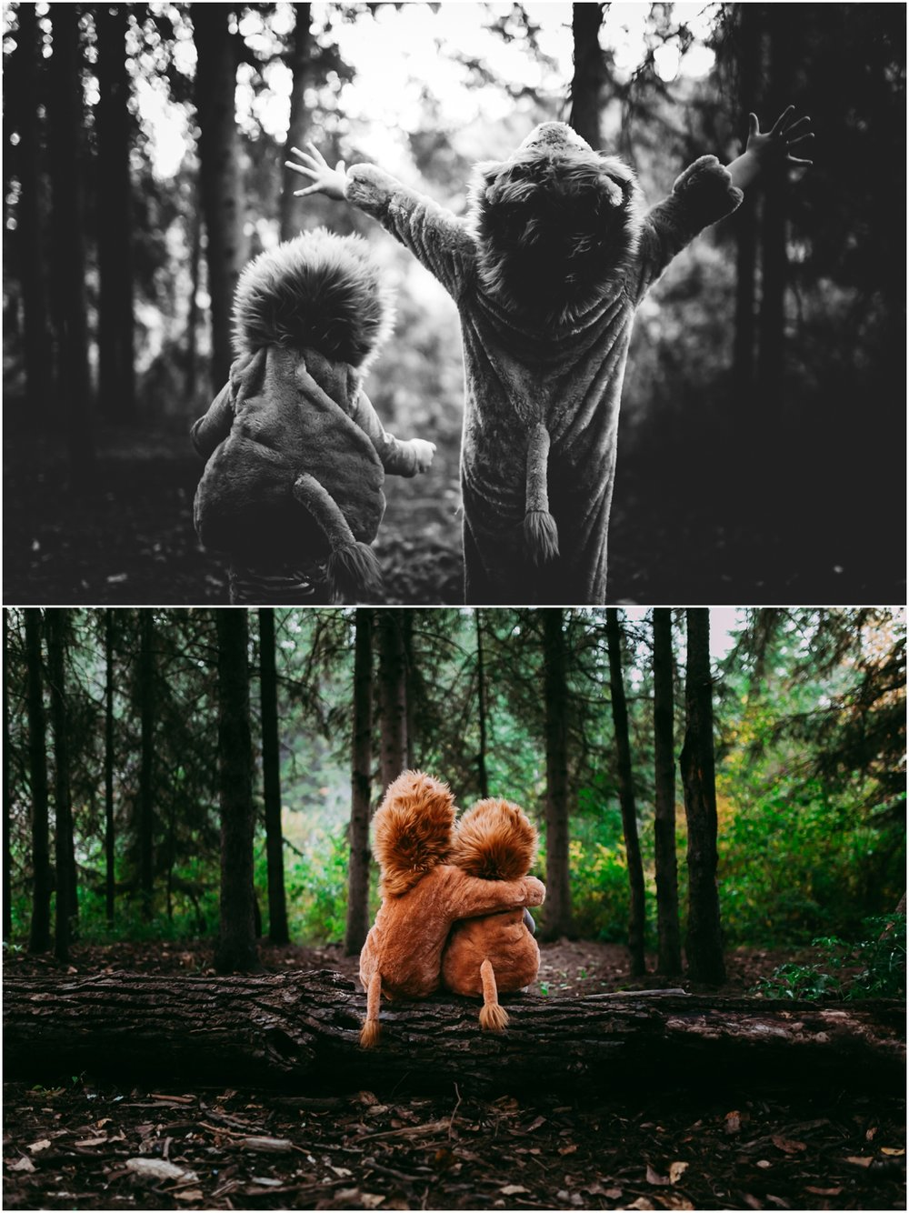 Edmonton Lifestyle Photographer - Best of 2016 - halloween costume - Where the wild things are - Lions - Lion costumes - Whitemud Ravine Park - YEG