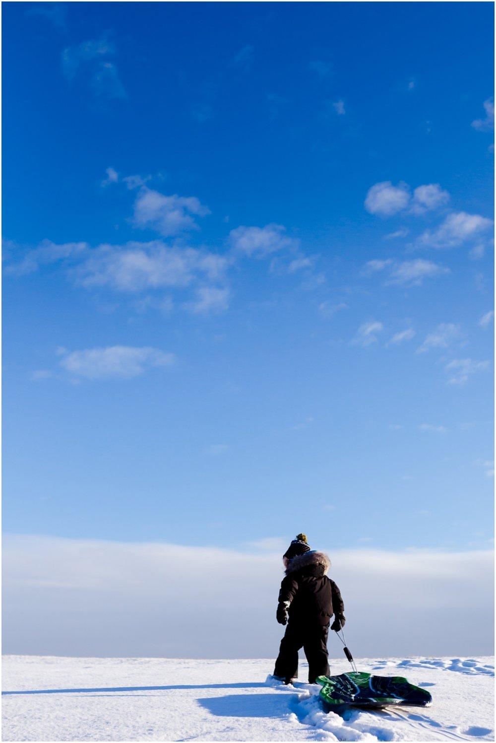 Edmonton Lifestyle Photographer - Best of 2016 - YEG - Sledding winter
