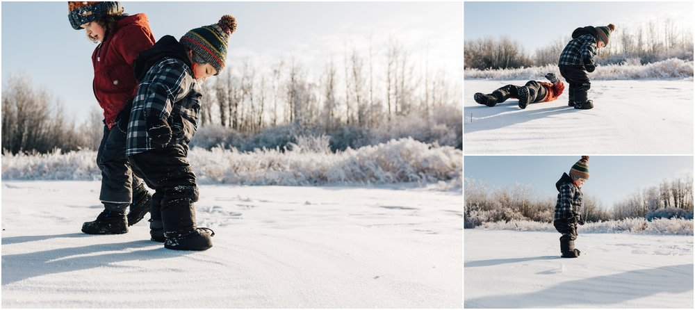 Treelines Photography - Edmonton Lifestyle Photographer - Snow Jumping