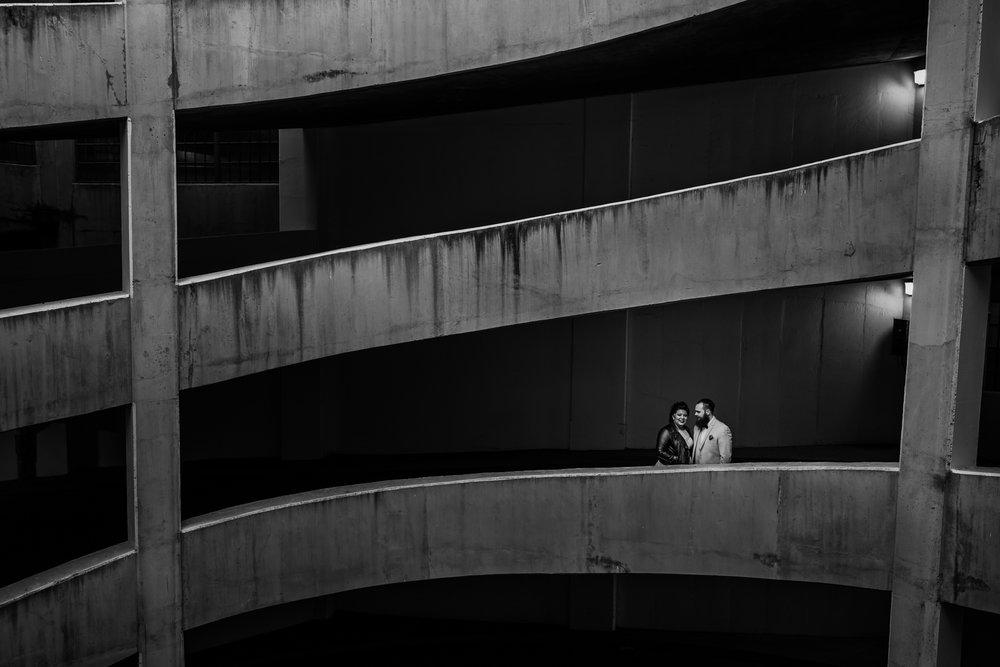 Treelines Photography - Edmonton Wedding Photographer - Downtown Edmonton HSBC Parkade - Wedding Couple