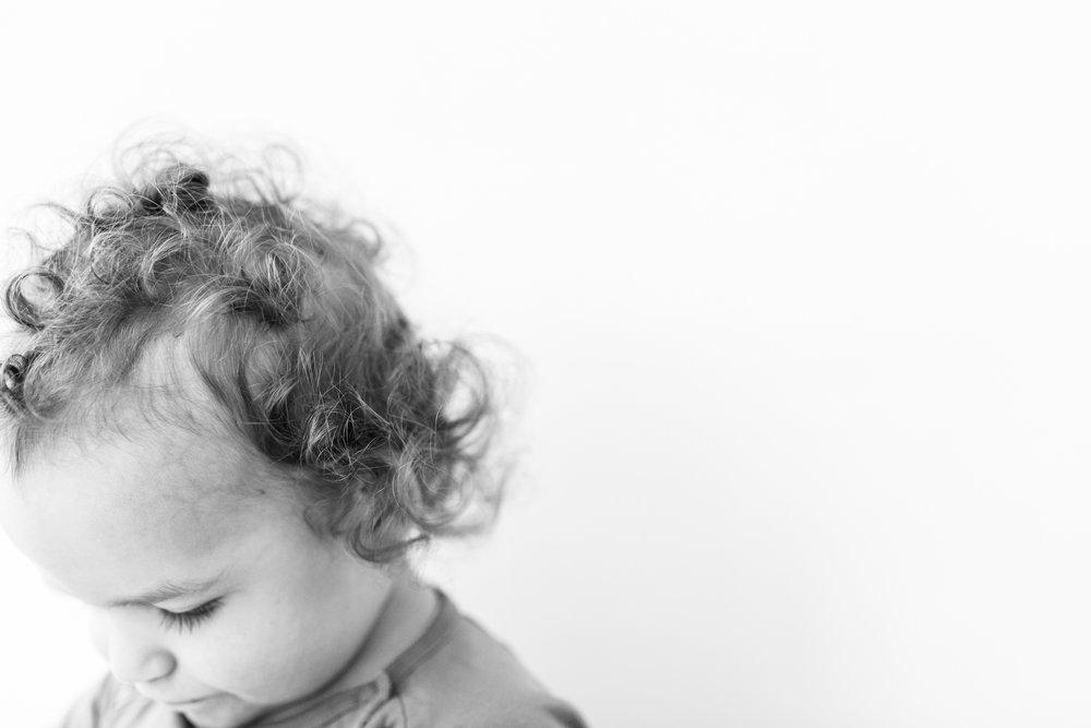 Edmonton Family Photographer - High Key Portrait Curly Hair