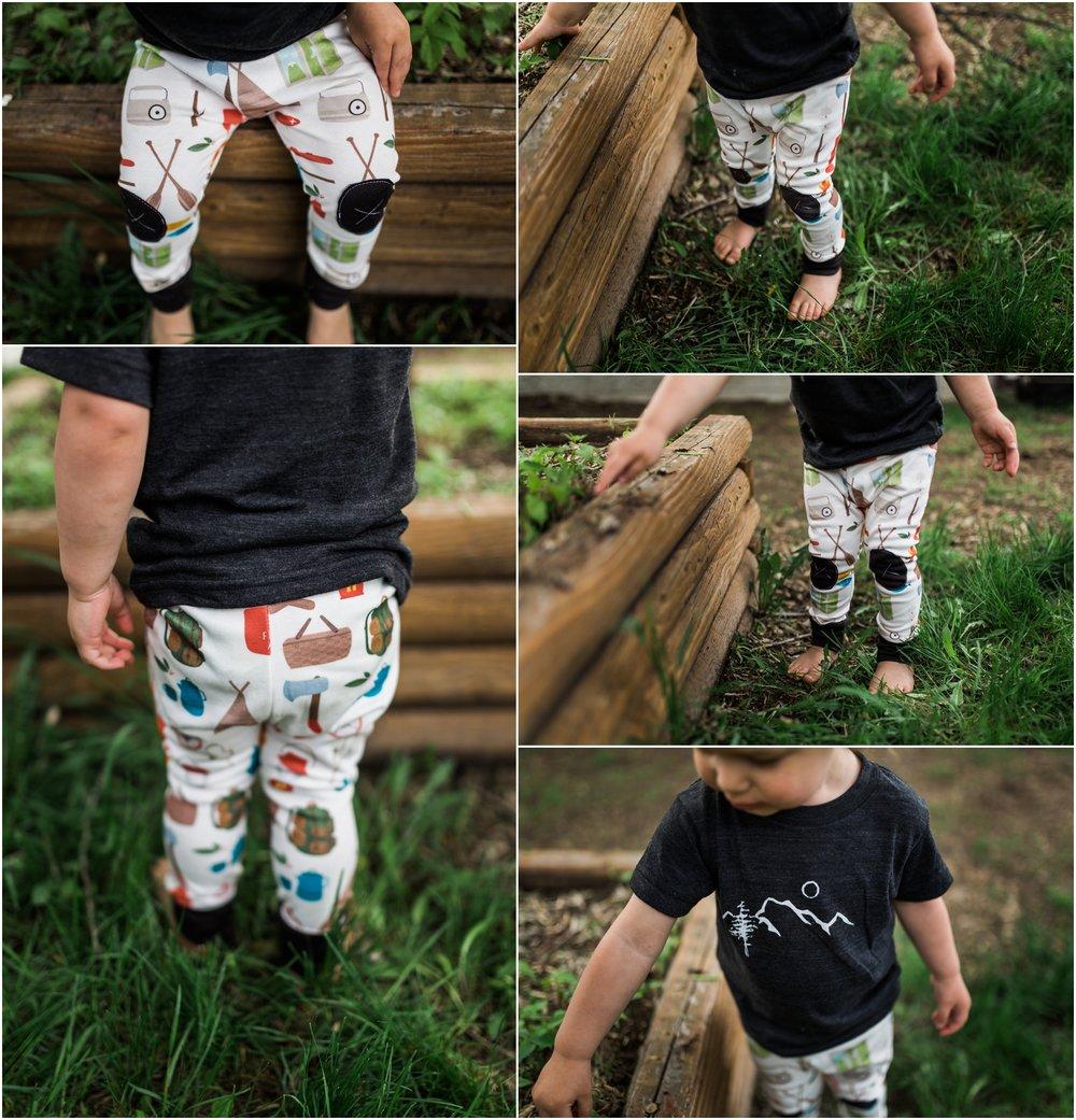 Edmonton Brand Photography - Treelines Photography - Alpine Baby Co. Adventure Leggings