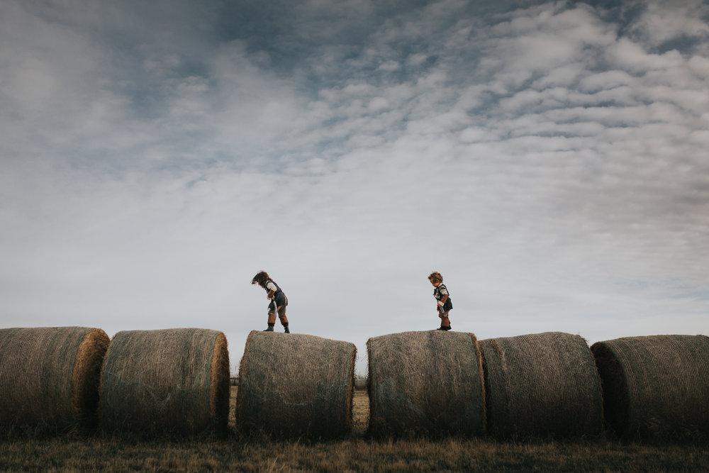 Edmonton Lifestyle Photographer - Hay Bales