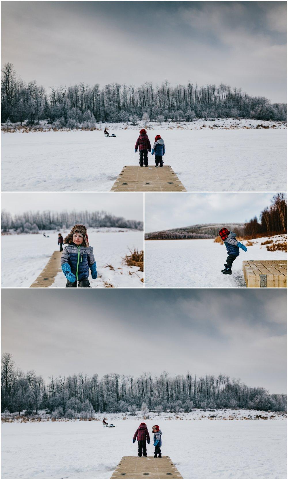 Edmonton Photographer - Lifestyle - Winter Alberta Lake.jpg