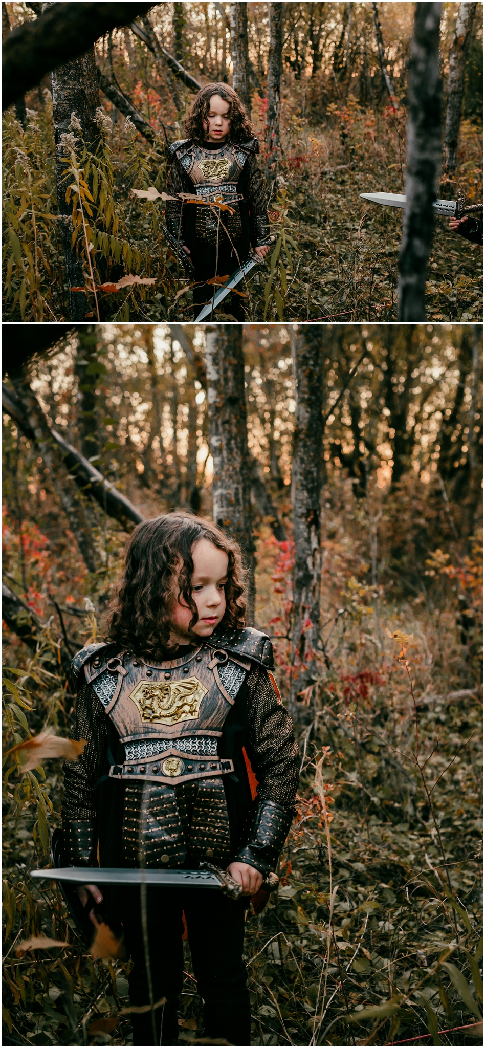 Edmonton Family Photographer - Treelines Photography - Edmonton Lifestyle Photographer - Halloween costumes - knight costumes