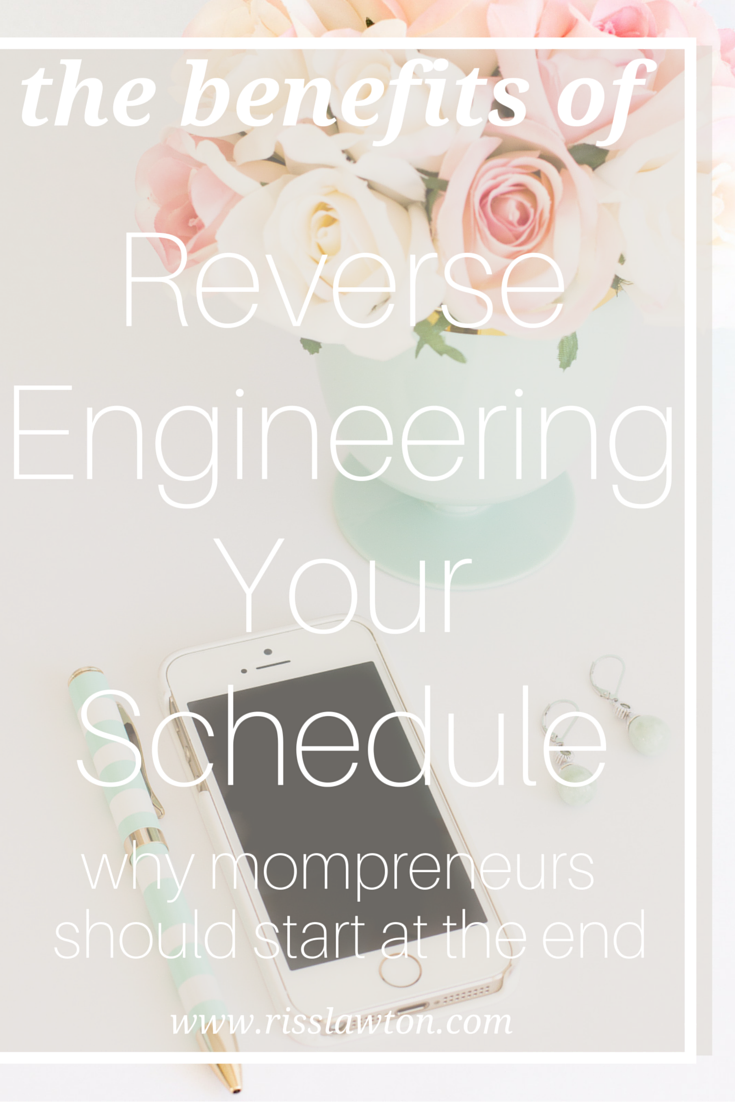 When thinking about time management, mompreneurs often make the mistake of scheduling their time going forward. The real key to balance is reverse engineering a schedule. Click through to read the article and create your own top-down schedule.