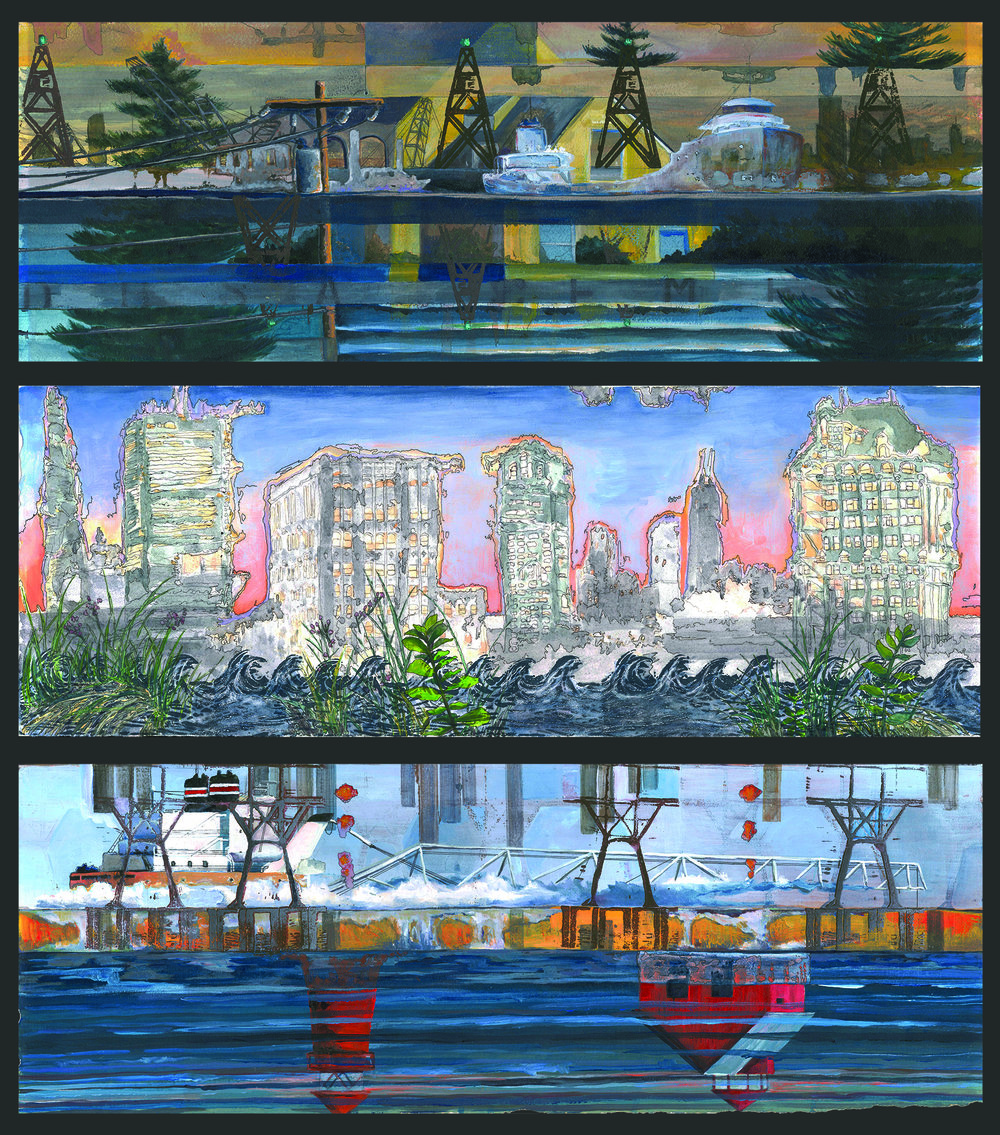 Mirage Dream #2, 3, 4 (Triptych)