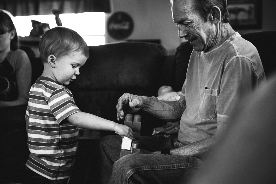 grandpa and grandson playing legos