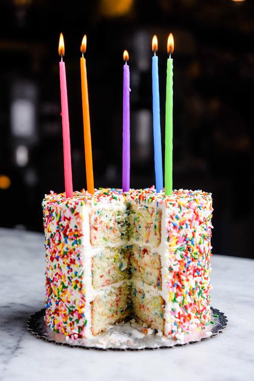 Ultimate Confetti Sprinkle Cake Angel Food