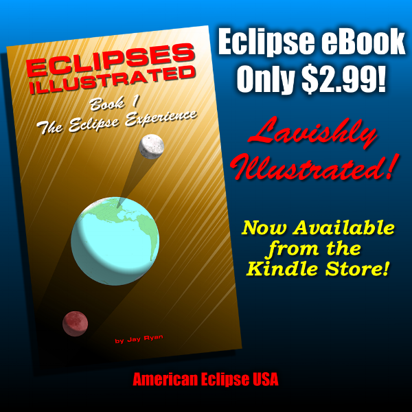BUY NOW! The first booklet in a series of five examining the nature of the eclipse experience in precise detail. Written and illustrated by our friend and collaborator; JAY RYAN! This series is highly regarded and a must own for all aspiring and seasoned eclipse chasers. Be prepared for August 21 2107!!. Mark Bender endorsed!!!
