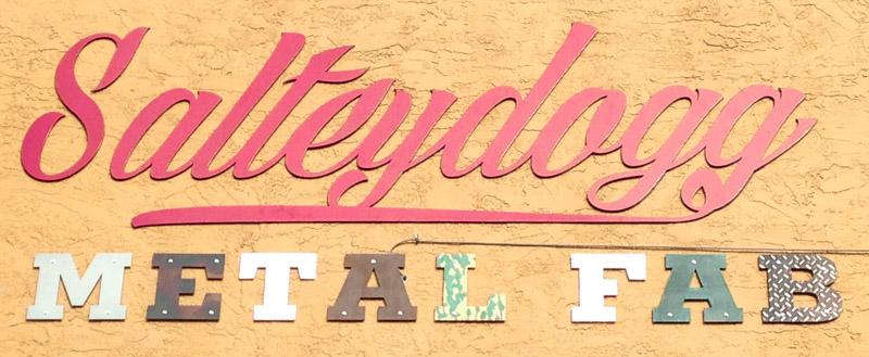 Waterjet cut Sign Wall Mounted Steel Saltey Dogg Metal Fabrication.jpg