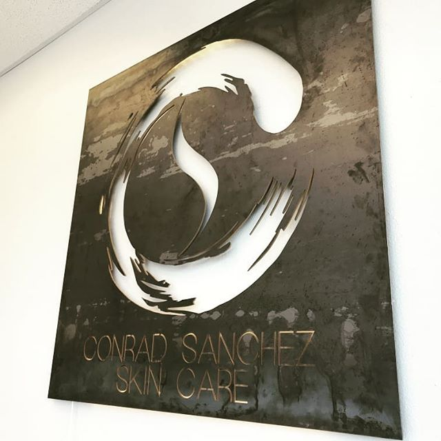 Conrad Sanchez Skin Care has moved. This is their new sign. Wishing you all amazing success. Thanks for letting us work on this with you.