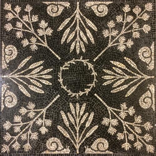 Herb Garden floor medallion - marble