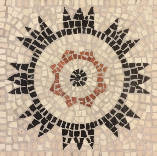 Starburst mosaic pattern - stone