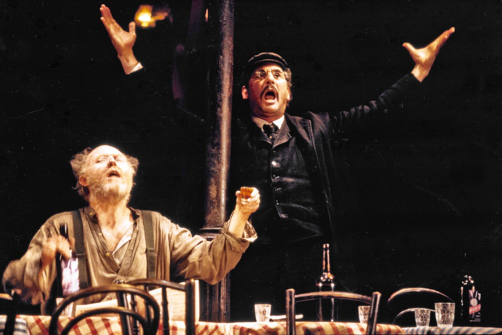 Hugo in THE ICEMAN COMETH, with Tim Pigott-Smith. Photo: Joan Marcus.