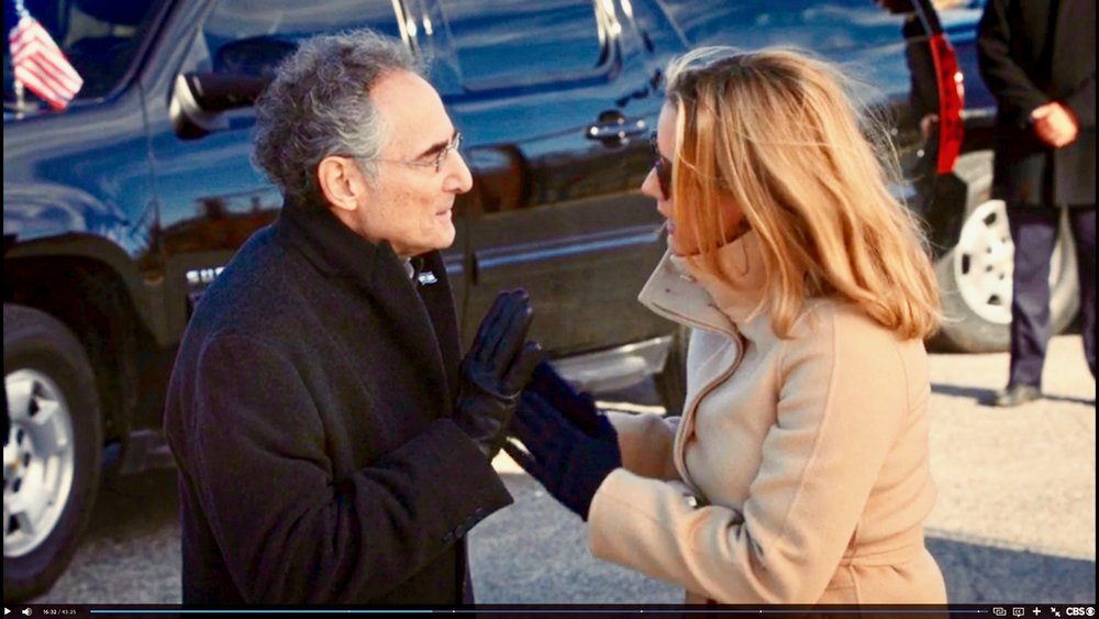 As Prime Minister Aronson in MADAM SECRETARY