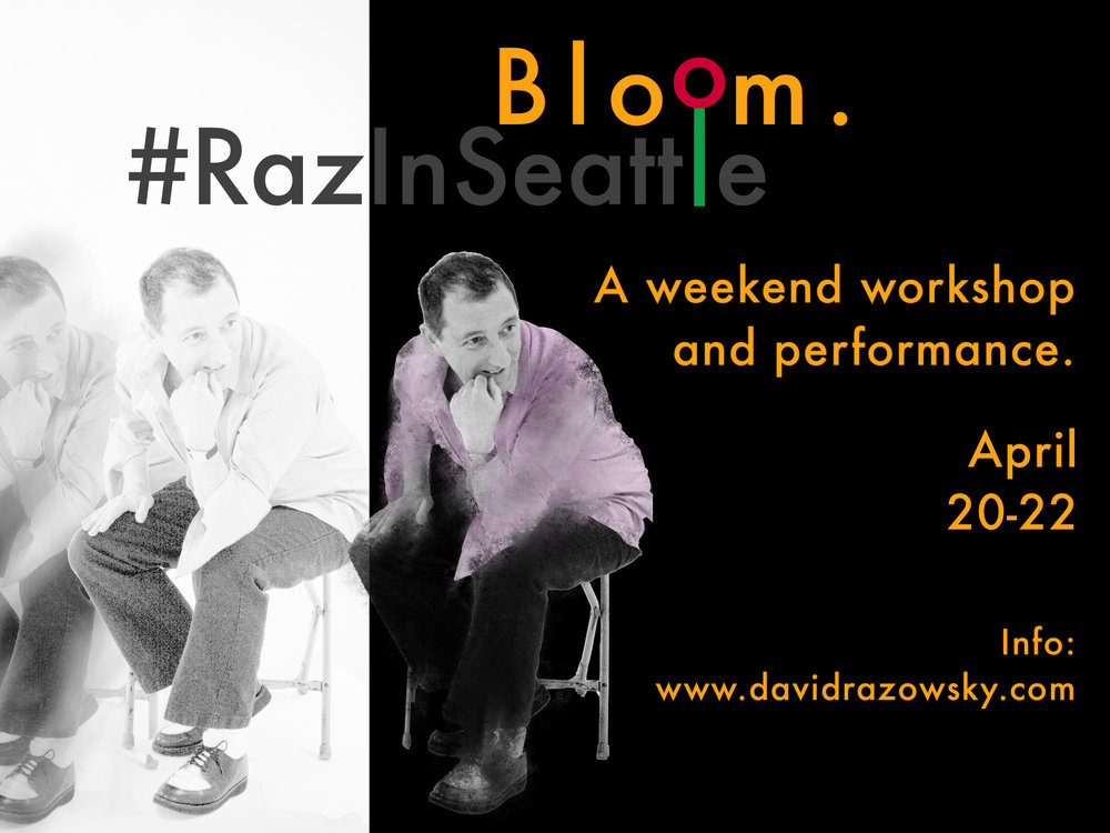 BLOOM!  A Weekend Improv Intensive April 20th-22nd