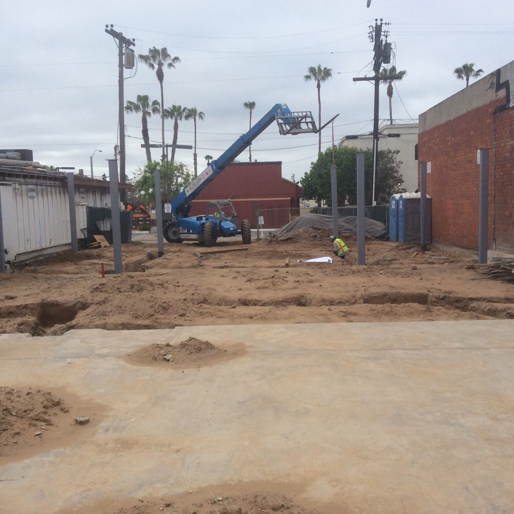 Precision Concrete just poured footings & H&R Steel set the columns at the new 8,750 sq.ft. Hornblend Offices in Pacific Beach, Ca. We will be keeping you updated on this project as we push toward the completion date.