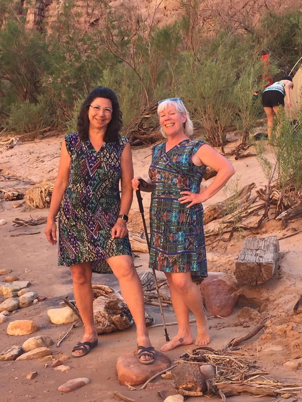 Here is Awesome Ambassador Mary Matthews.  These lovely ladies rafted the Colorado River through the Grand Canyon wearing Lady Hike!