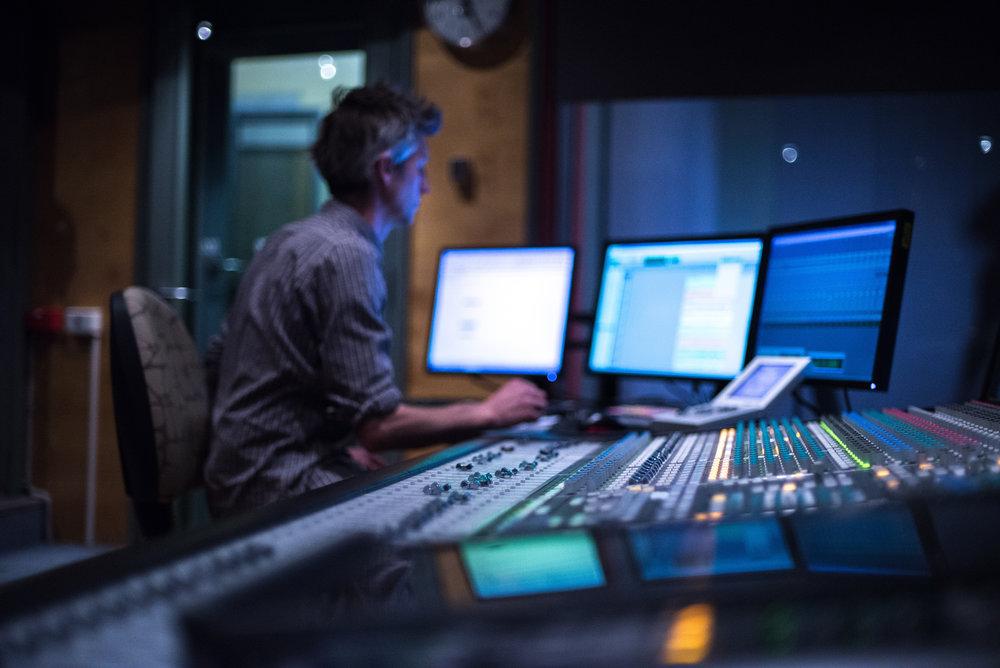 Working in the studio. Image : Caleb Plumridge