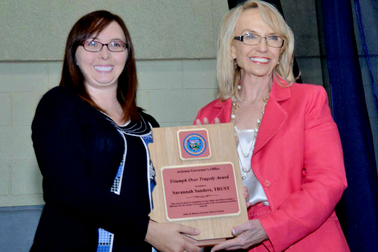 2014 Triumph Over Tragedy recipient, with Arizona Governor Jan Brewer.