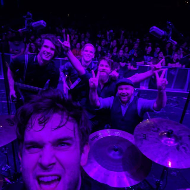 This is one form of #selfie that is 100% acceptable!  An intimate moment shared with everyone else who attended our show at @forummelbourne supporting @seetherofficial  It's a crazy thing being in a band and you rarely have moments on a gig night that you forget about what you need to do next, love capturing one of those moments.