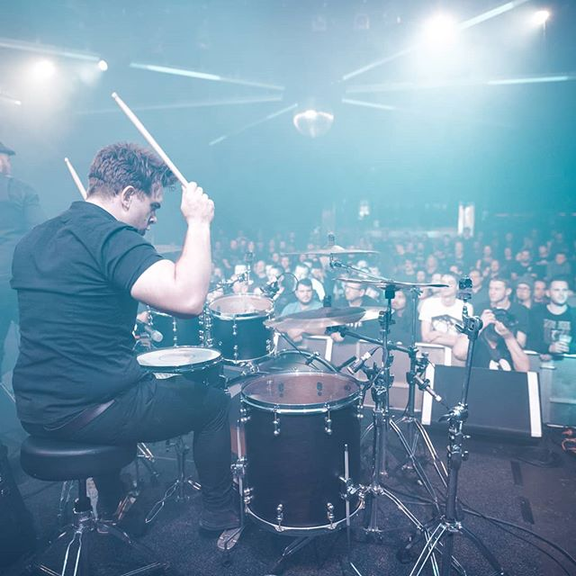 Very rarely do we get such a great view from the drummers seat!  This shot from @electrumphotography is so cool 😎  Can't wait to be back on stage and playing for everyone again.  What have been some of the great gigs that you have been at in 2018?  Standouts for us are; @tesseractband at @170russellvenue  @leprousofficial at @thetriffid  @gojiraofficial at @downloadfestivalaus