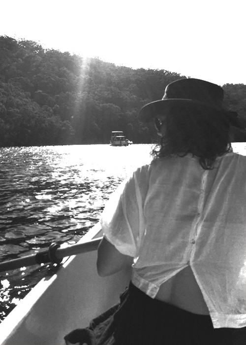 On the Hawkesbury River, 2018, photo by my beautiful friend & fellow artist  Midnight Blue