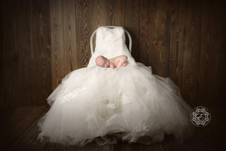 Newborn posed wedding dress edmonton jpg