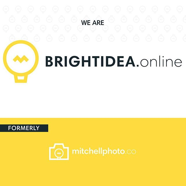 mitchellphoto.co is now BRIGHTIDEA.online! Check out the link in our bio to read more about the change! #brightideaonline