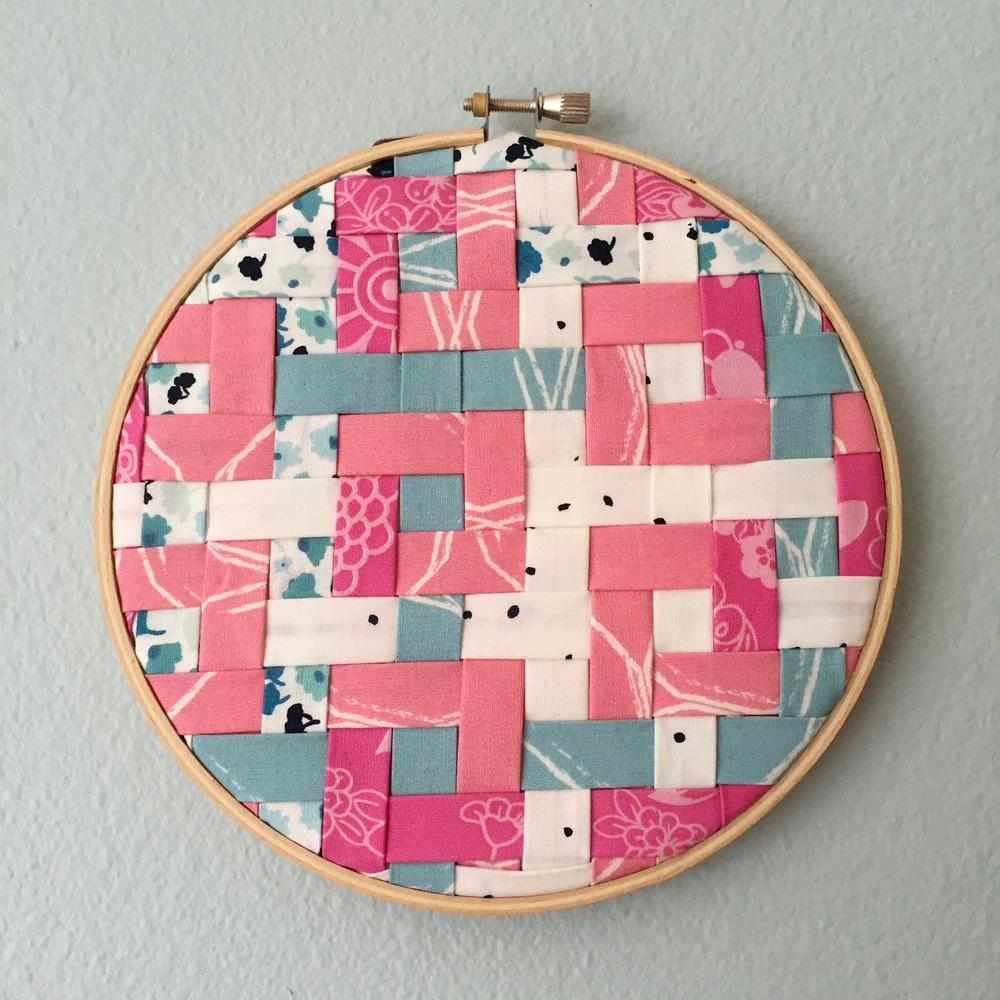 Woven Tiles hoop art.