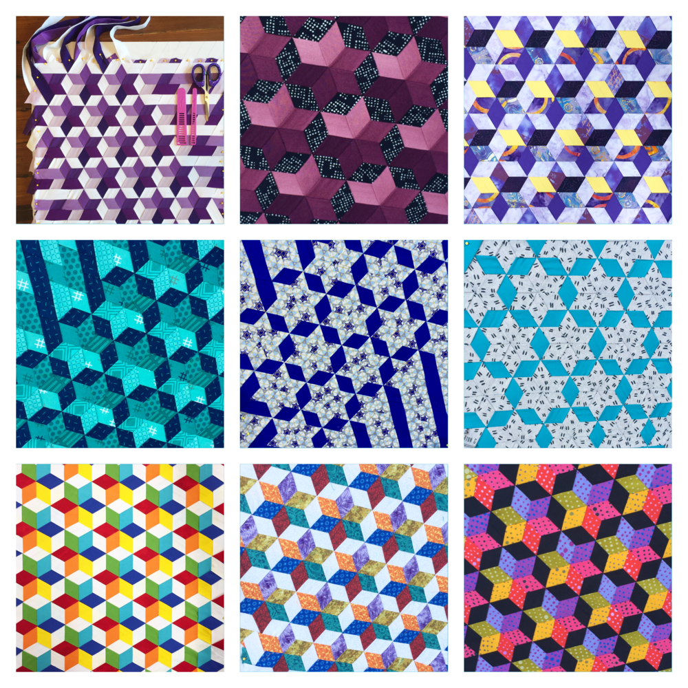 A sampling of students' work on Woven Star Variations