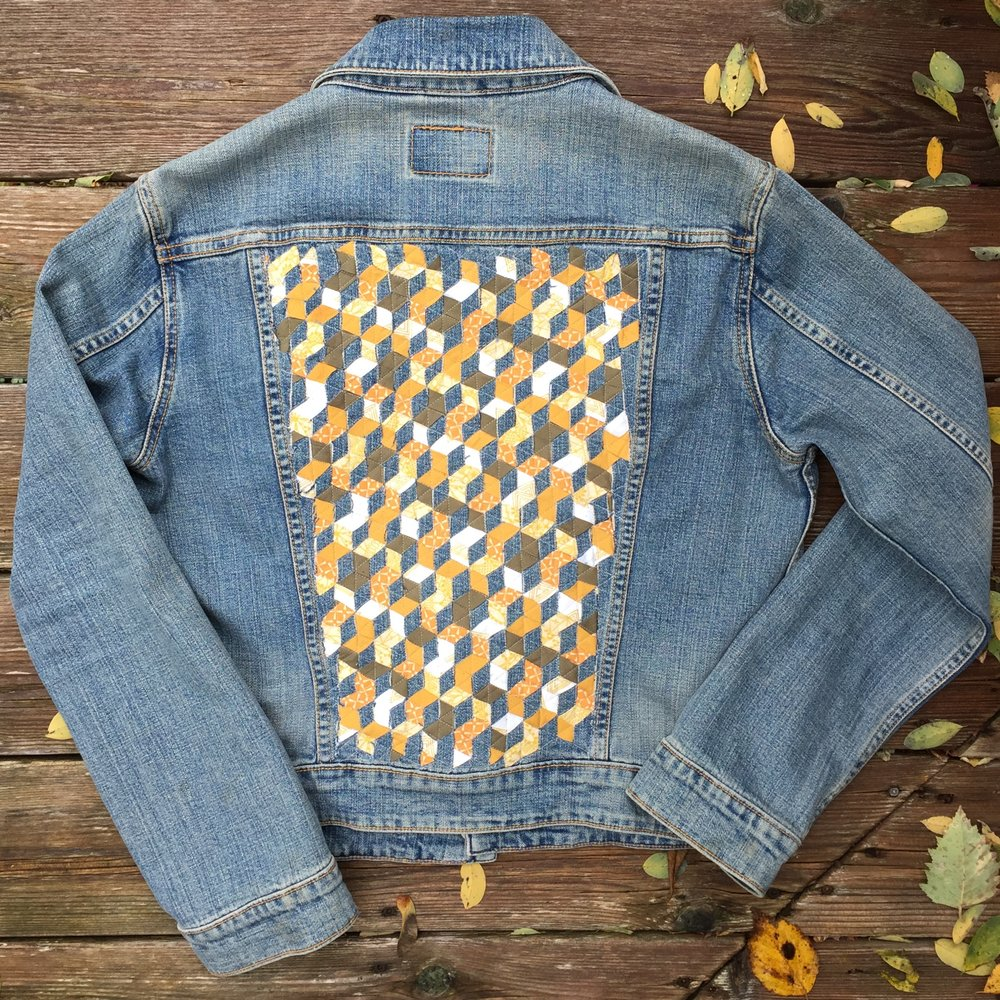 Upcycled Levi Strauss jean jacket!