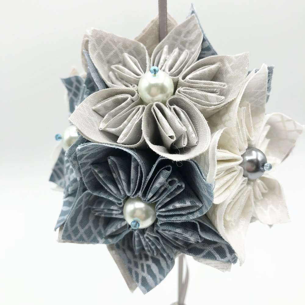 Fabric Kusudama - Tutorial by WEFTY Needle
